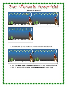 Creating a Moving Story in PowerPoint/Stop Motion Christmas Edition