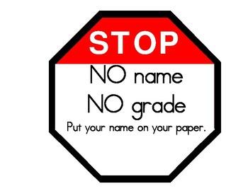 Stop! No Name No Grade!