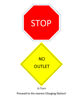 Stop! No Outlet! Mini Poster