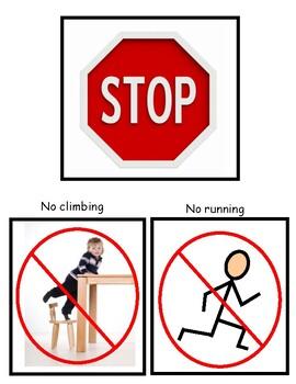 Stop!  No running!  No climbing!