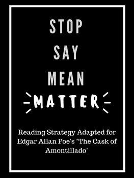 "Stop Say Mean Matter--Poe's ""Cask of Amontillado"""