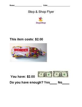 Do you have enough money? Stop & Shop Store Activity.