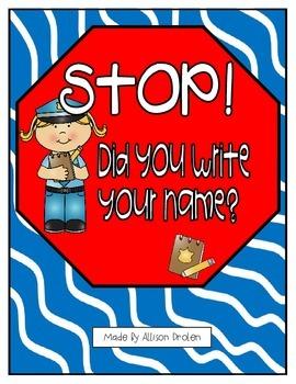 Stop Sign Name Reminder!