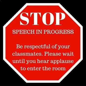 Stop Sign - Speech in Progress