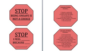 Stop Sign Visual for Calming Strategies