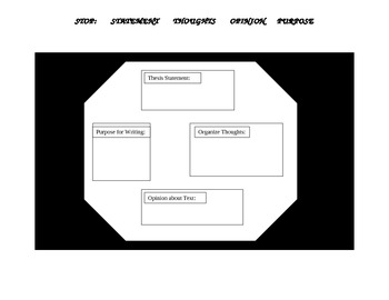 Stop Sign Writing Graphic Organizer