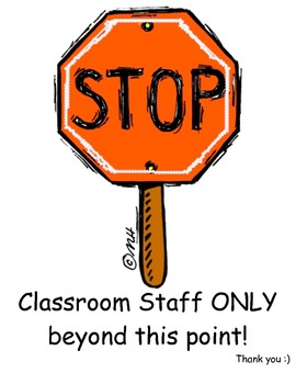 Stop Sign for the Classroom