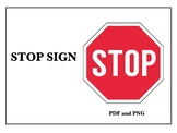 Stop Sign in English (FREE)