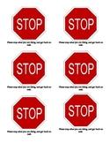 Stop Signs Behavior Management
