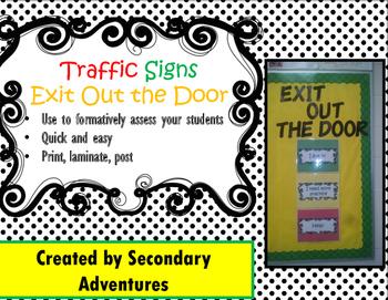 Traffic Light Signs Exit Ticket