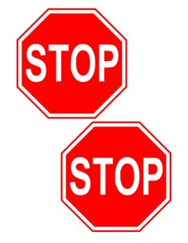 Stop Signs for Autistic/Special Needs Students