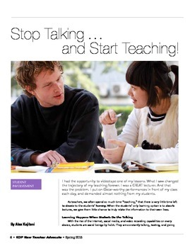 Stop Talking . . . And Start Teaching! Get Students Engaged