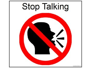 Stop Talking Poster for the Classroom
