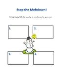 Stop The Meltdown - Coping Skills Worksheet
