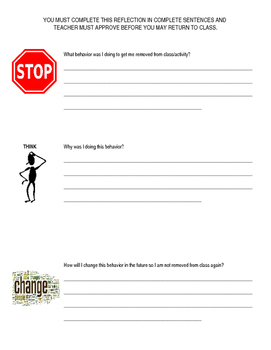 Stop, Think, Change Classroom Reflection