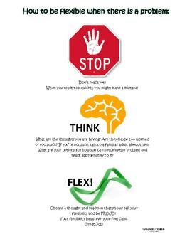 Stop Think FLEX - a visual for flexible problem solving