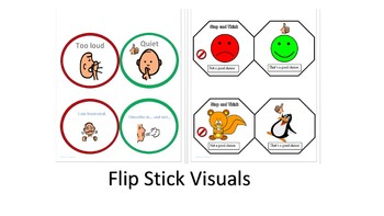 Stop & Think Flip Stick Visuals--4 FREE for Managing Difficult Behavior