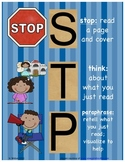Stop Think Paraphrase reading strategy chart