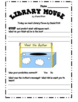 Stop Think Predict and Write with Library Mouse