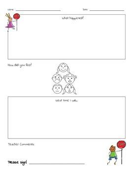 Stop & Think Sheet * * Behavior * *