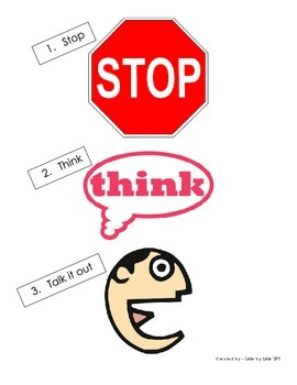 Stop. Think. Talk it out.