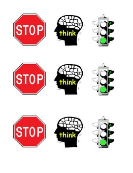 Stop Think and Act Poster for Impulsive Students