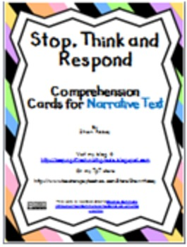 Stop, Think and Respond Cards BUNDLE - Informational and Narrative text