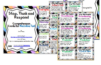 Stop, Think and Respond- Comprehension Cards for Narrative Text