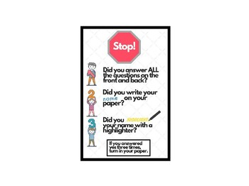 Stop! Turn in Instructions