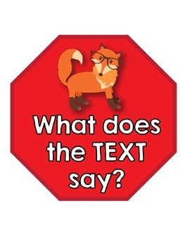 Stop! What Does the TEXT Say? Monitor thinking with the Fox!