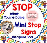 Stop What You're Doing Discipline Mini Stop Signs for Behavior Class Management