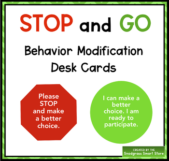 Stop and Go Behavior Cards