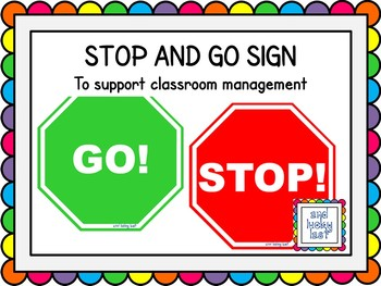 Stop and Go Classroom Management Signs