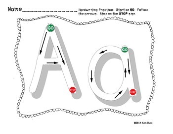 Stop and Go Letter Formation/Handwriting