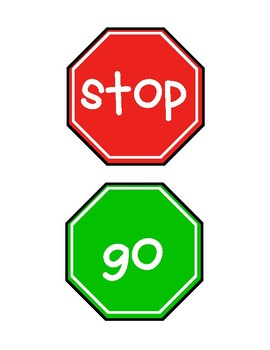 Stop and Go Signs for Classroom Centers and Bathrooms