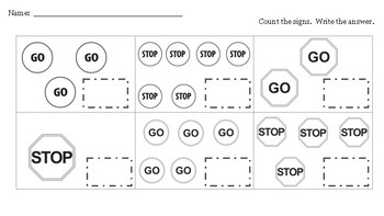 Stop and Go Worksheets