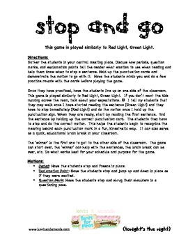 Stop and Go, a Punctuation Game