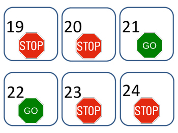 Stop and Go calendar pattern pieces