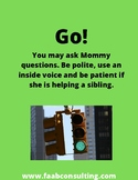 Stop and Go signs for parents working at home, while kids