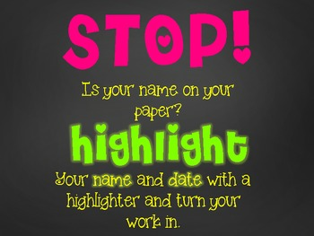 Stop and Highlight