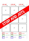 Stop and Jot Bookmark!