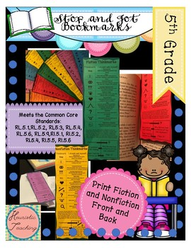 Stop and Jot Bookmarks- 5th Grade