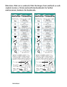 Stop and Jot Bookmarks- 4th Grade