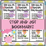 Stop and Jot Bookmarks Readers Workshop