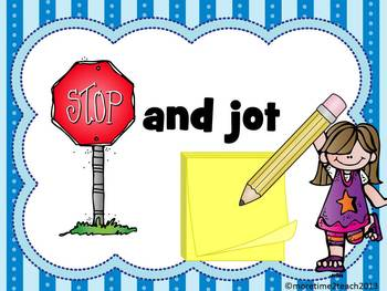 Stop and Jot Poster {FREE}