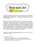 Stop and Jot: RTI Reading Strategy Formative Assessment