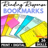 Stop and Jot Reading Response Bookmarks