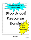 Stop and Jot Reading and Writing Resource