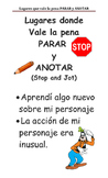 Stop and Jot Spanish Anchor Chart