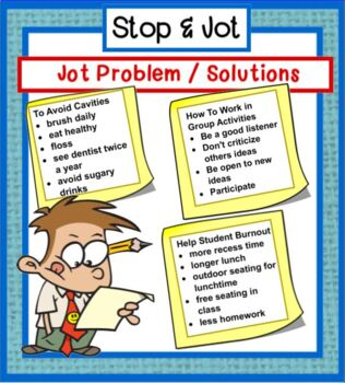 Stop and Jot - Tips for Jotting Notes from NonFiction Text